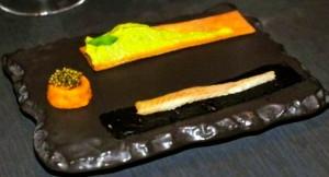 Eel-granny smith-Parmesan-trout eggs