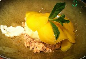 Mango & gekarameliseerd deegkoekje
