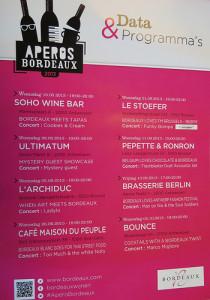 Programma Apéros Bordeaux