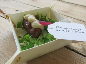 Gerookte geitenworst met truffels & fondue van blue - Gigi Il Bullo