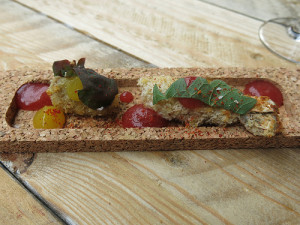 Foie Gras in cromesquis, gepaneerde langoustine, kalamansi - L'Eveil des Sens